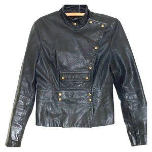 Celine Leather Jacket in Black
